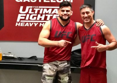 Con el Kelvin Gastelum en The Ultimate Fighter